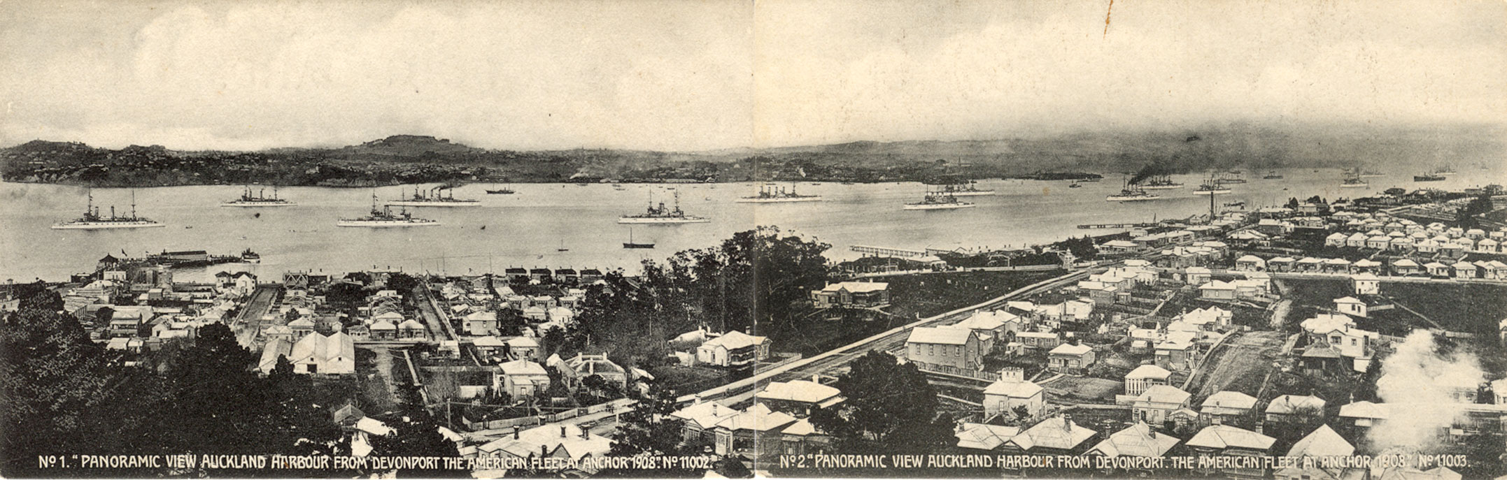 Photo taken from across the harbor from Auckland from a hilltop in Devonport