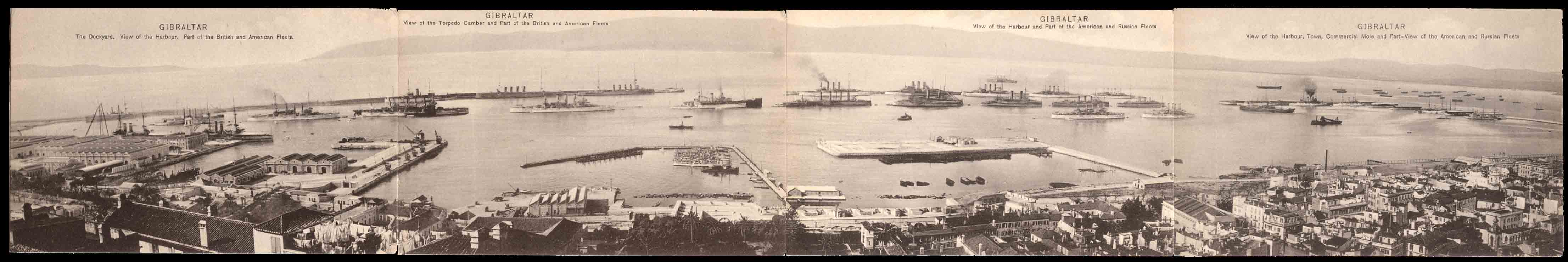 Four-Panel-Ships-in-Harbor