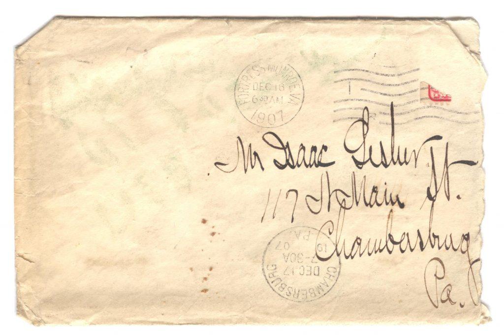 Frank Lesher Letter - December 1907 001