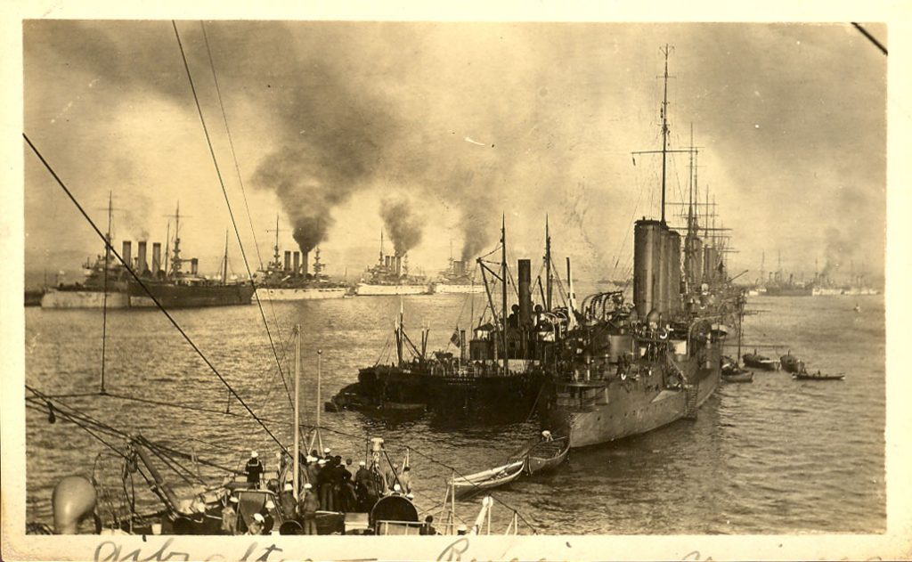 The American Fleet in Gibraltar, M. R. Battey Collection