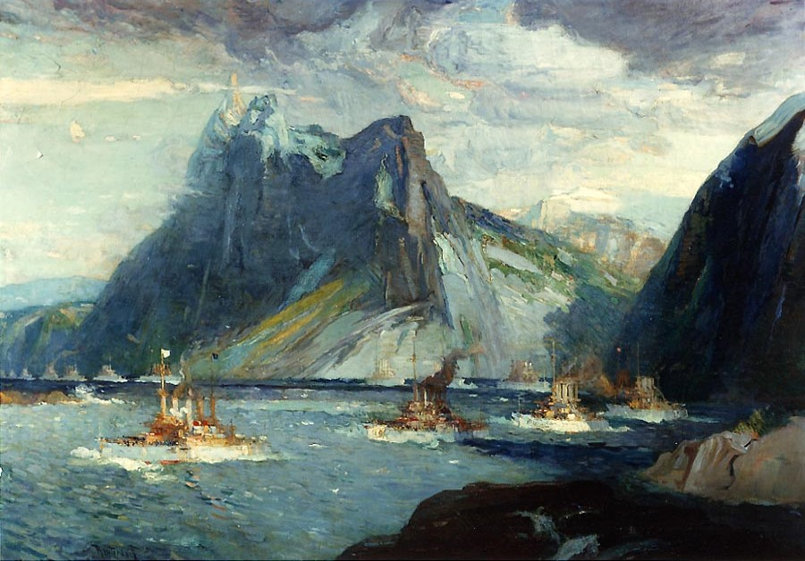 Henry_Reuterdahl,_United_States_Fleet_in_the_Strait_of_Magellan,_the_Morning_of_February_8,_1908,_signed_and_dated_by_the_artist,_1910
