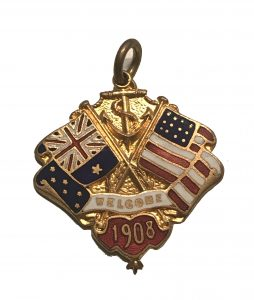 A Welcome Charm available in Australia for the fleet's visit 1908