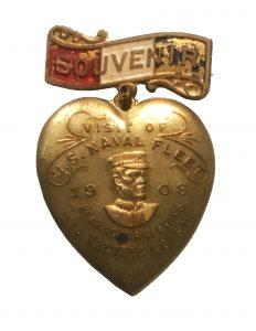 Souvenir - Visit of U.S. Naval Fleet 1908.  Rear Admiral Evans
