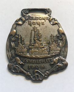 Welcome Home U.S. Naval Fleet 1909 - Watch Fob from Hampton Roads