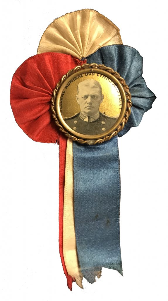 Admiral Evans - Patriotic Ribbon with Photo Button