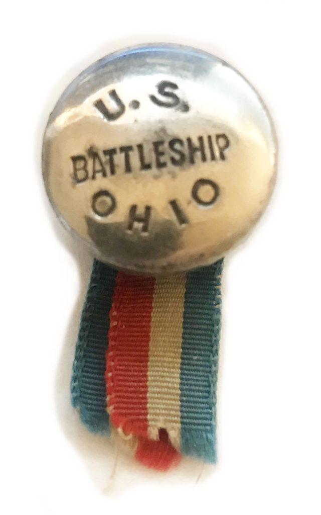 U.S. Battleship Ohio - Rivet ribbon from commissioning