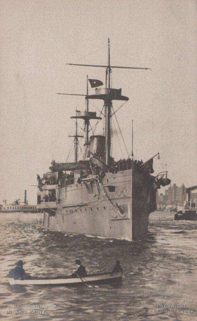 USS San Francisco in war paint