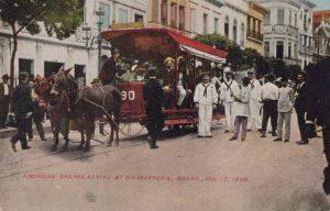 American Sailors Ashore at Rio De Jenerio, Brazil, Jan 15, 1908