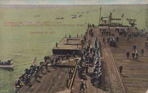 Landing at San Diego, Calif, April 11, 1908