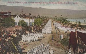 Sailors Parade at the Flower Festival, Santa Barbara, Calif.