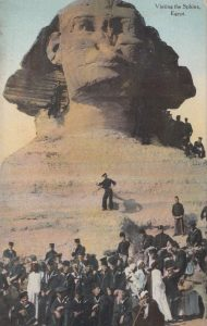 Visiting the Sphinx, Egypt