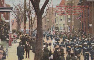 Sailors Parade in Norfolk, VA February 27, 1909