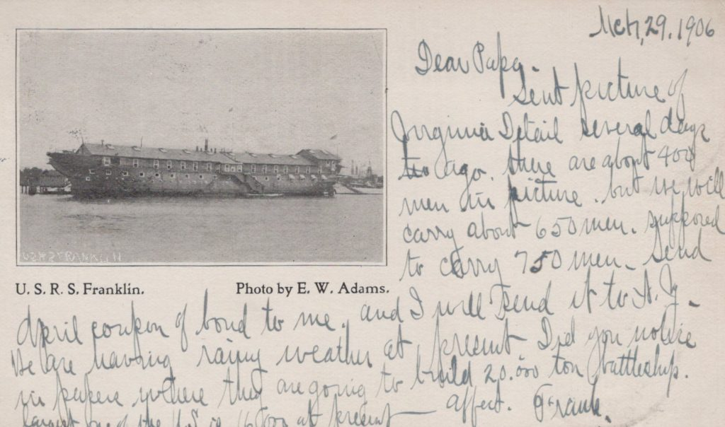 USRS Franklin - Receiving Ship canceled Berkley, VA