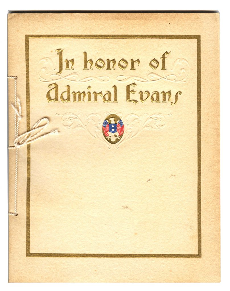 Retirement Book Admiral Evans - Cover 001