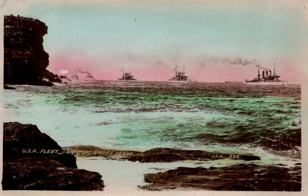 USA Fleet.  Entering Sydney Heads