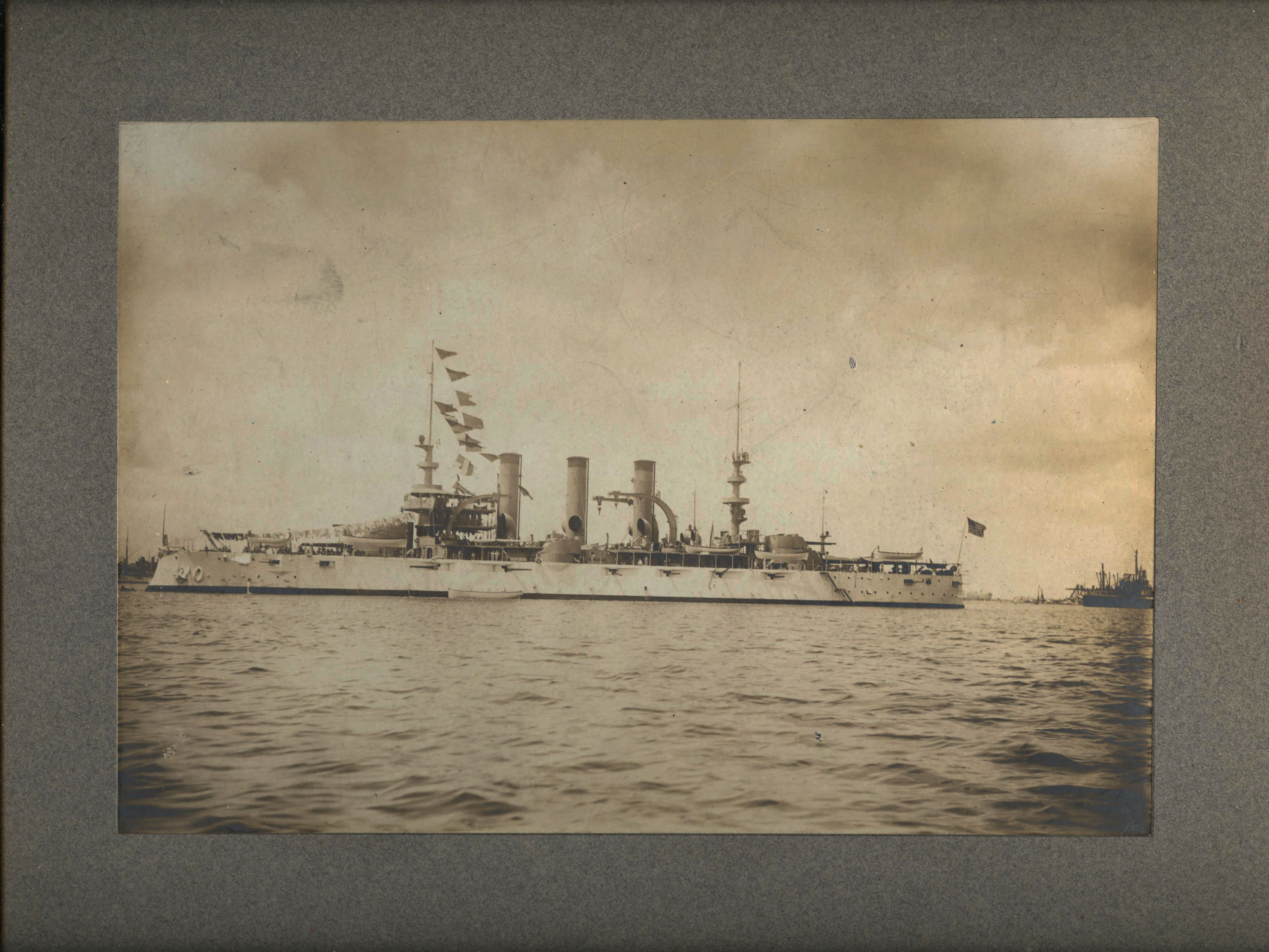 Large Cabinet Photograph of the USS Virginia 1906