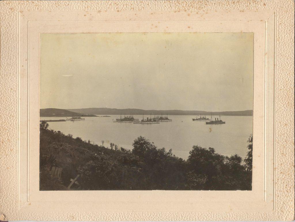 Albany Fleet in Harbor Cabinet Card 001