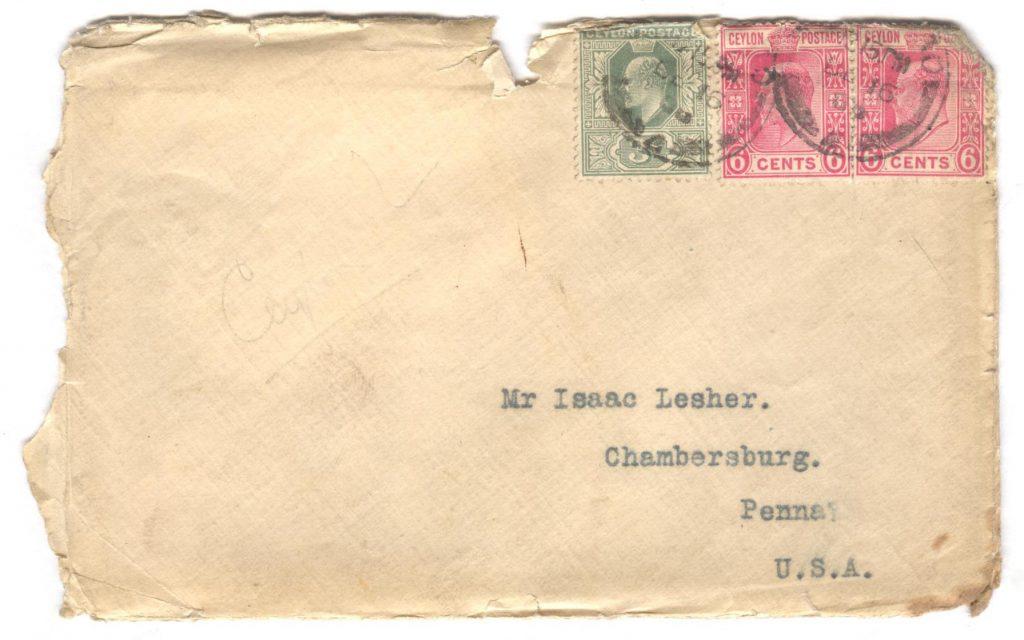 Ceylon Letter 2 - Cover 001