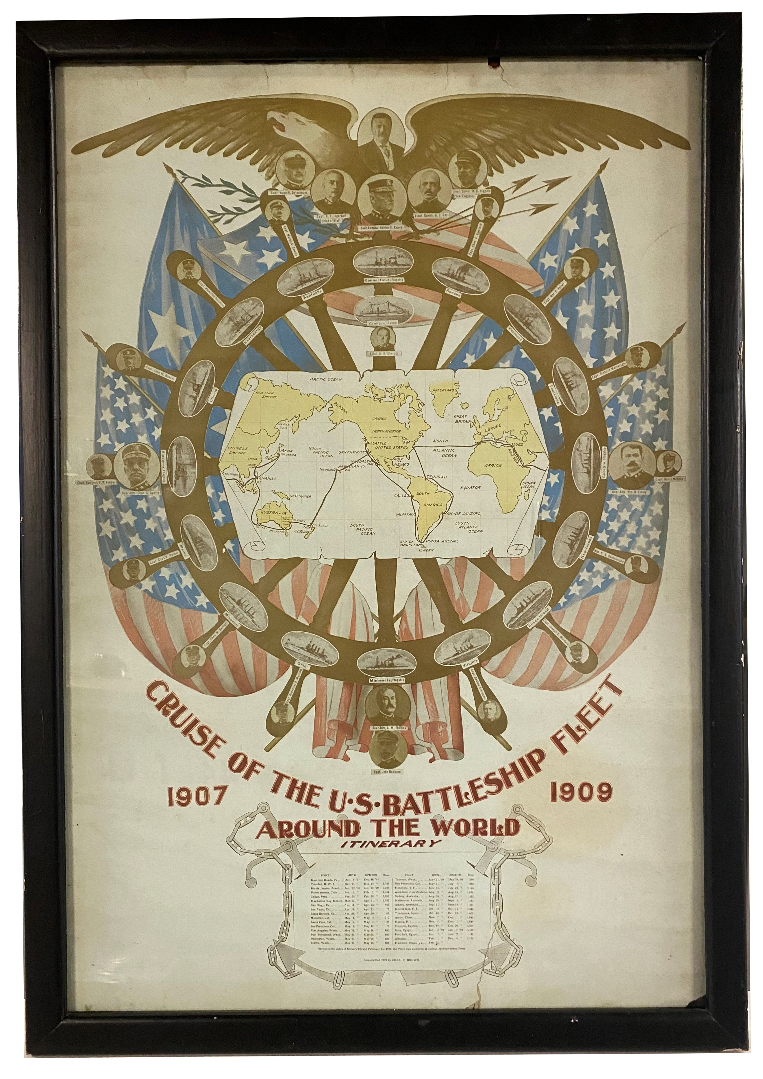 Cruise of the U.S. Battleship Fleet Poster