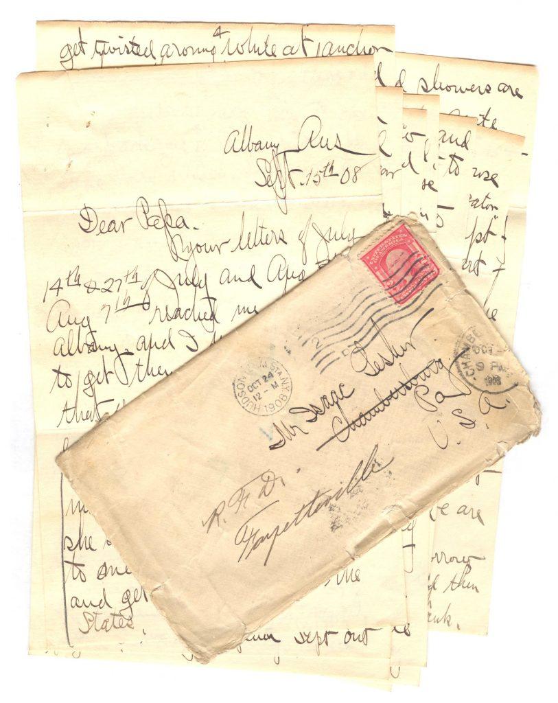 Frank Lesher Albany Letter 001
