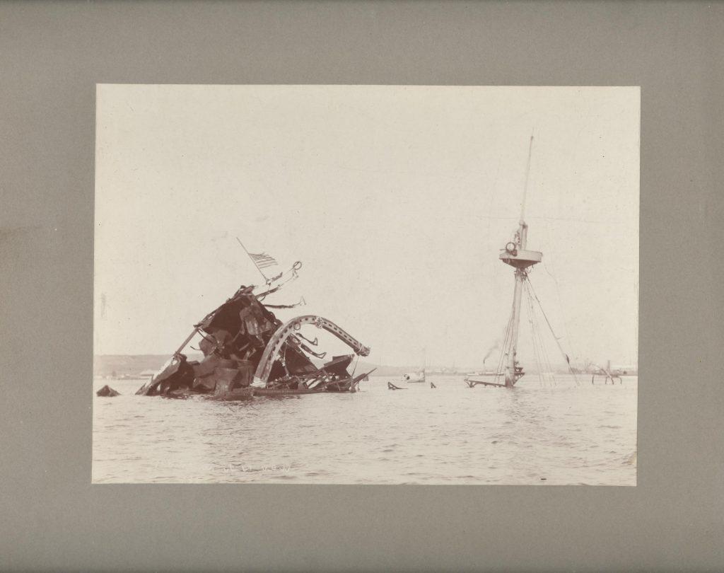 The Wreck of the USS Maine in Havana Harbor Cuba