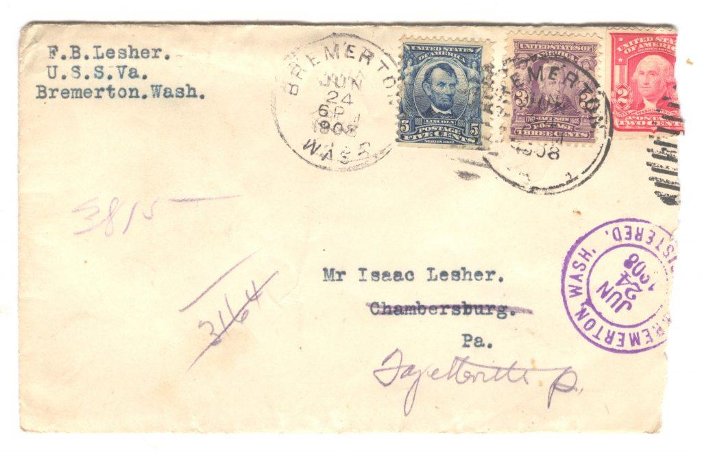 Frank Lesher Letter - Bremerton 001