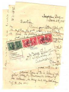 Frank Lesher Letter - Magdelena March 29 1908 001
