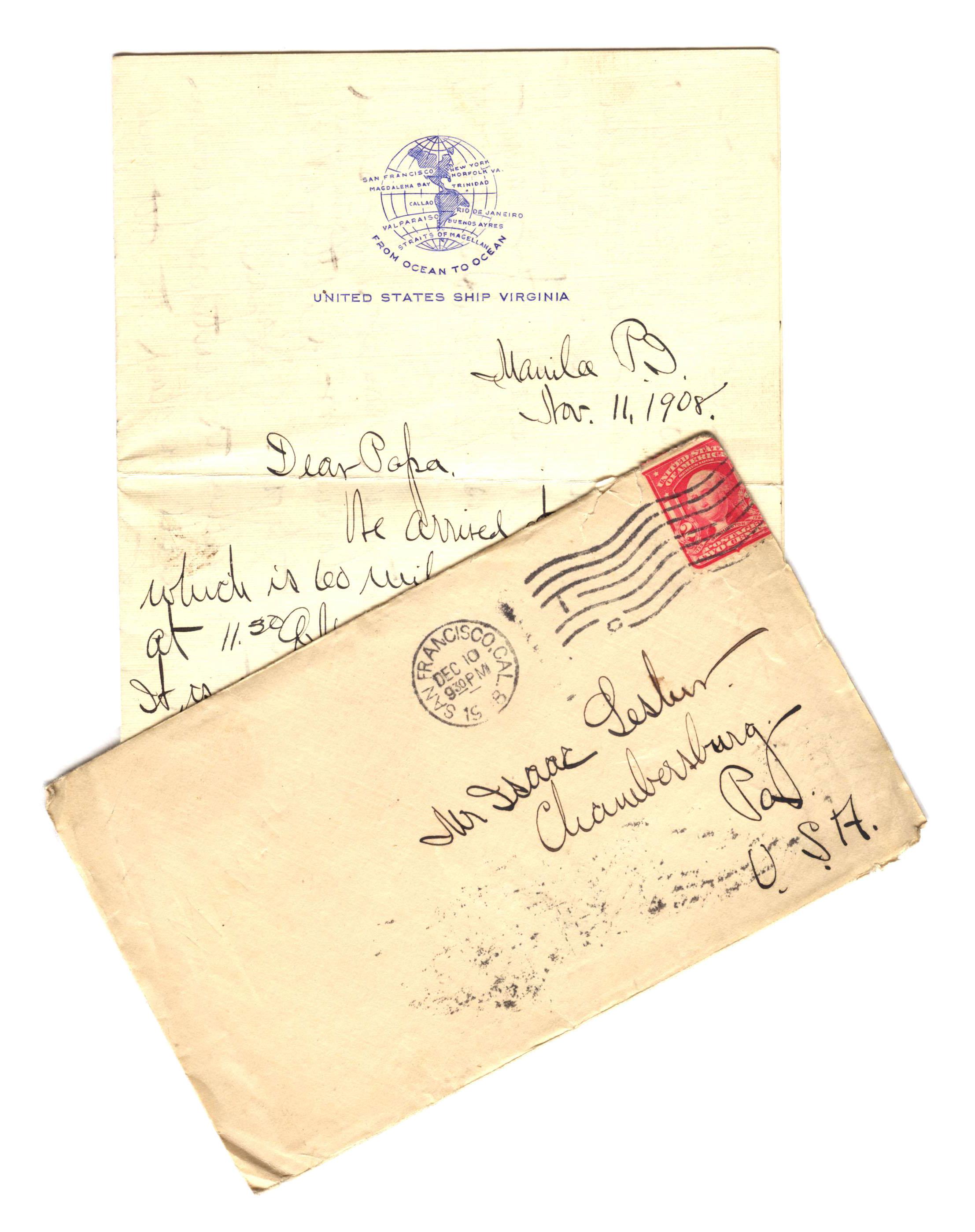 Frank Lesher Letter - Manila II 001