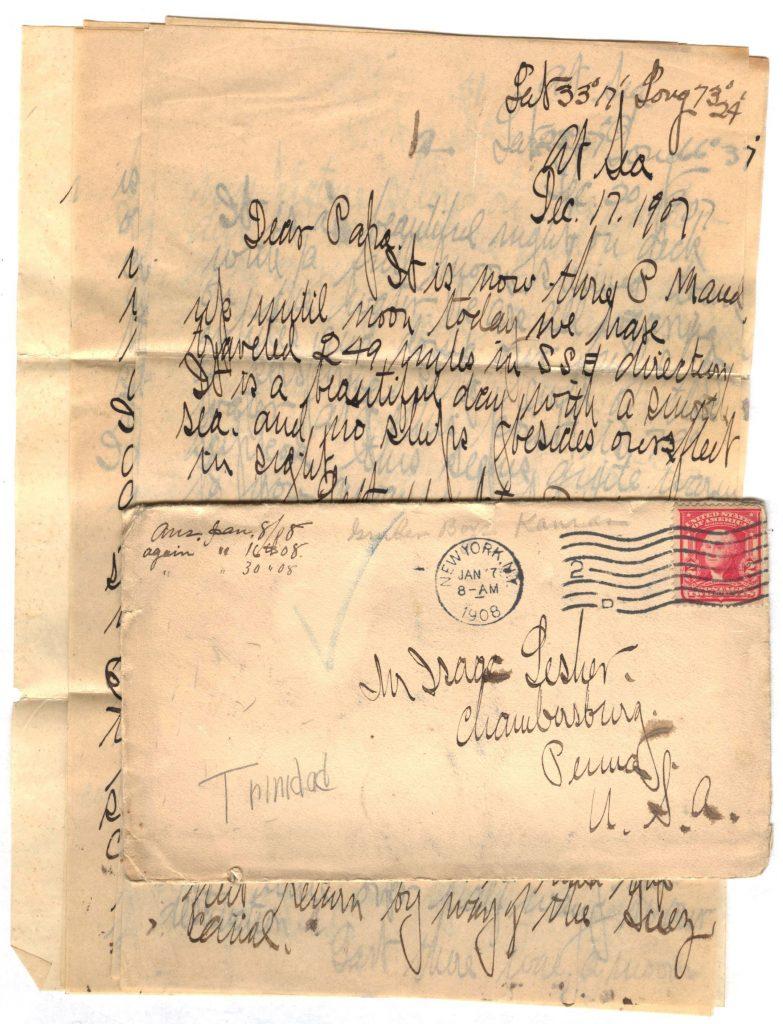 Frank Lesher Letter - Trinidad - January 7 1908 001