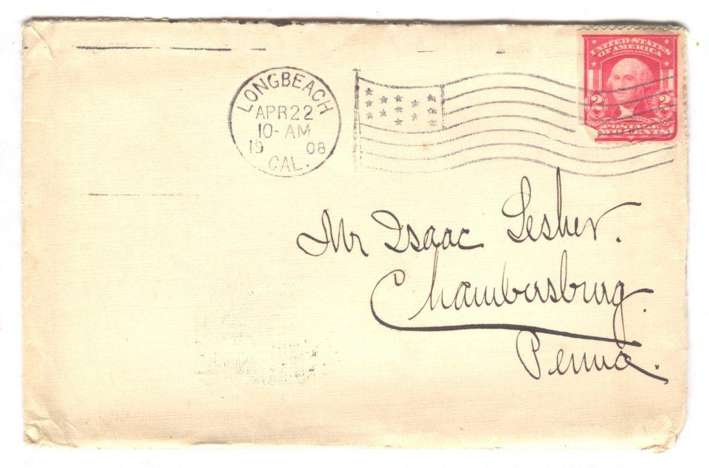 Frank Lesher - Long Beach Letter 001