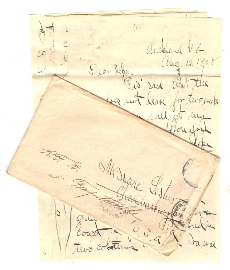 Frank Lesher New Zealand Letter 001