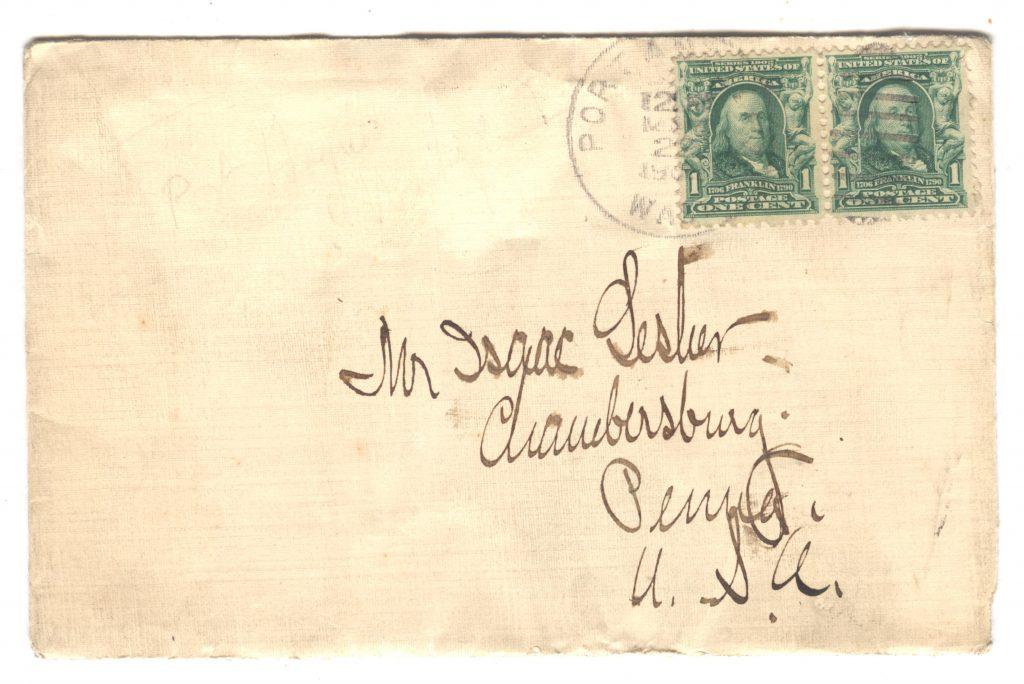 Frank Lesher Port Angeles Letter 001