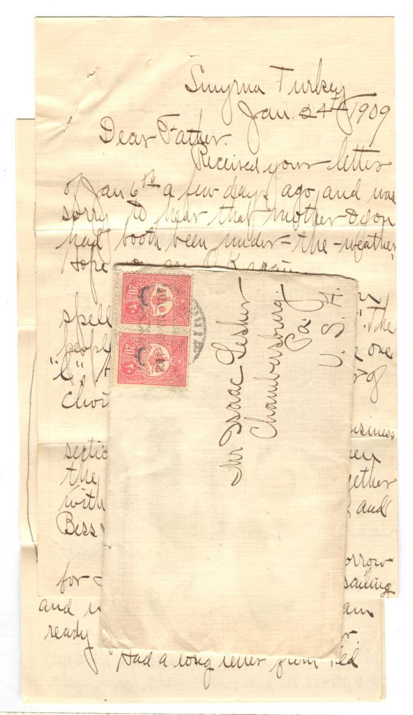 Frank Lesher Turkey Letter Jan 24th 001