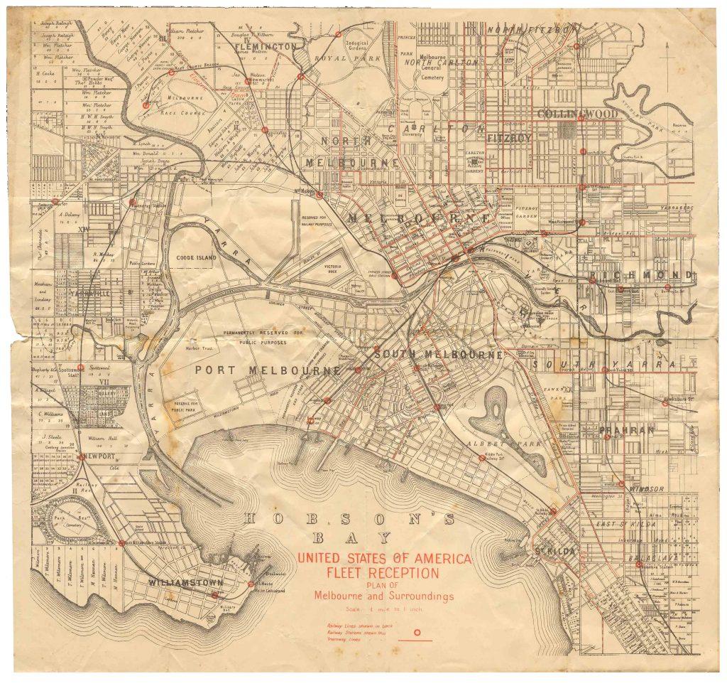 Melbourne-City Map