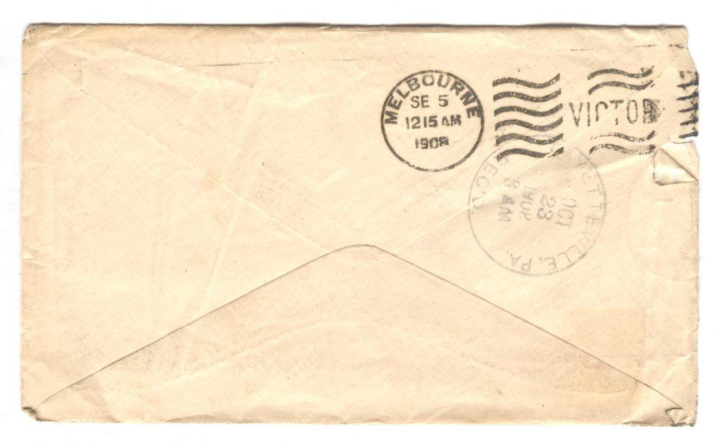 Melbourne Letter Back 001