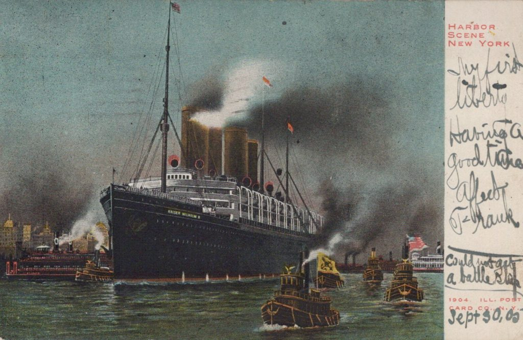Harbor Scene New York, 1904 Illustrated Post Card Company - NY, NY