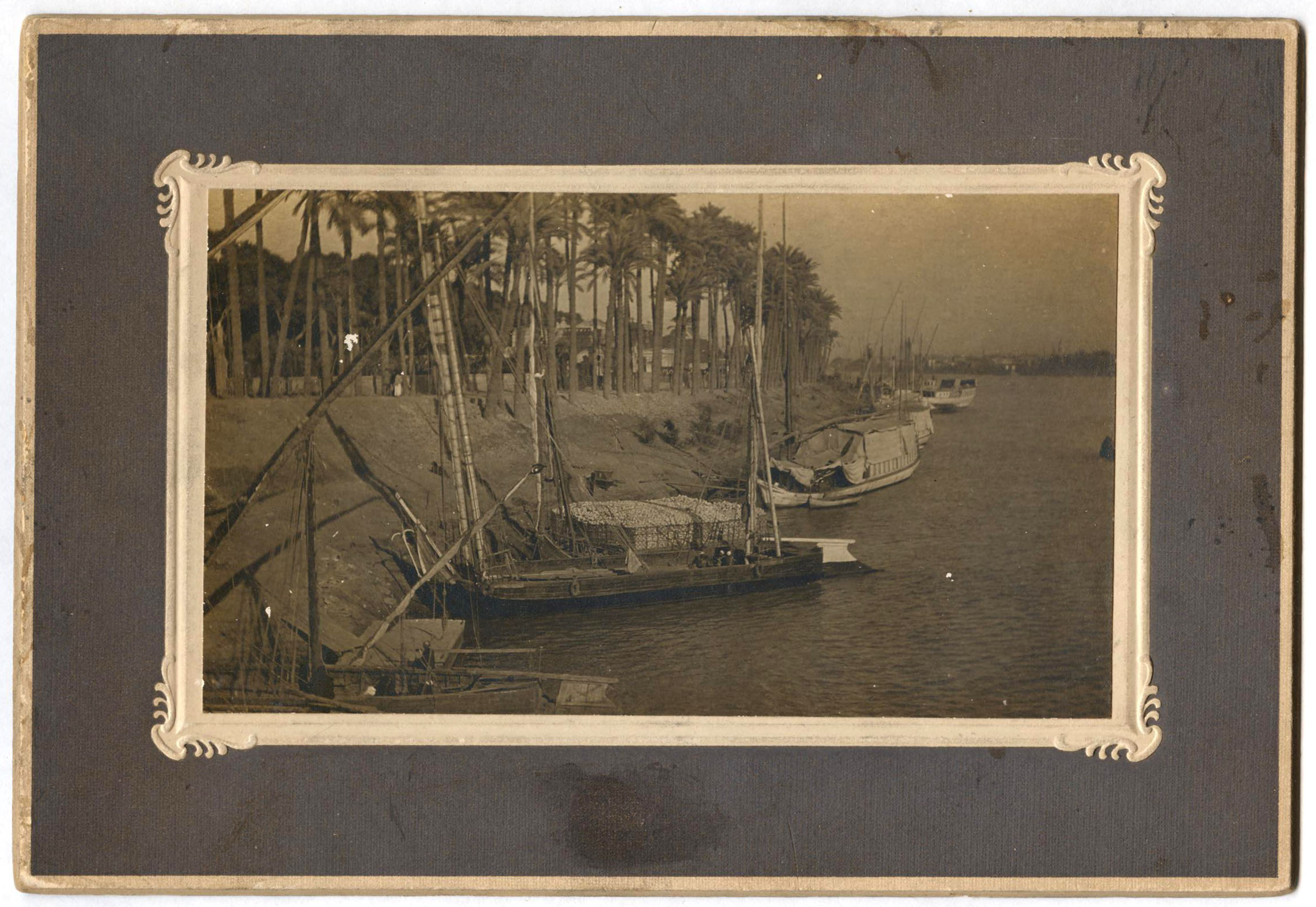 The Nile at Cairo - A large Cabinet Card in the Frank Lesher Collection