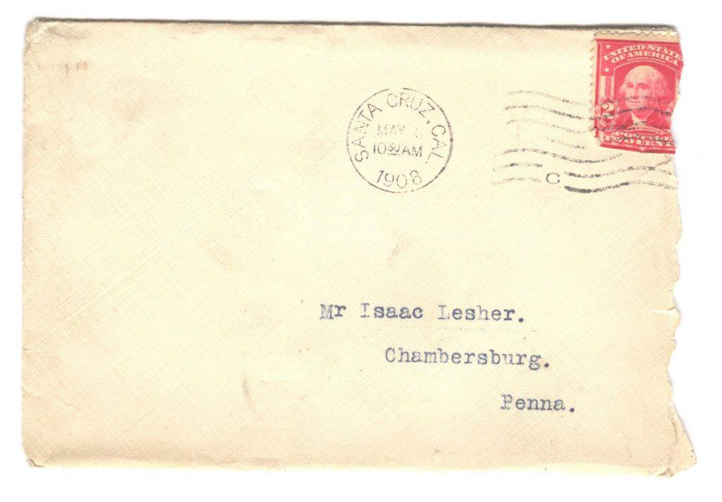 San Jose Letter - Frank Lesher 001