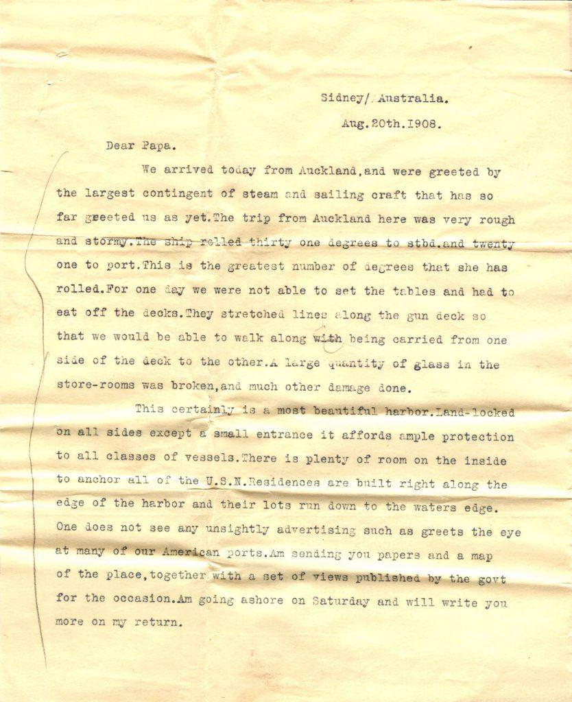 Sydney Letter 1 001