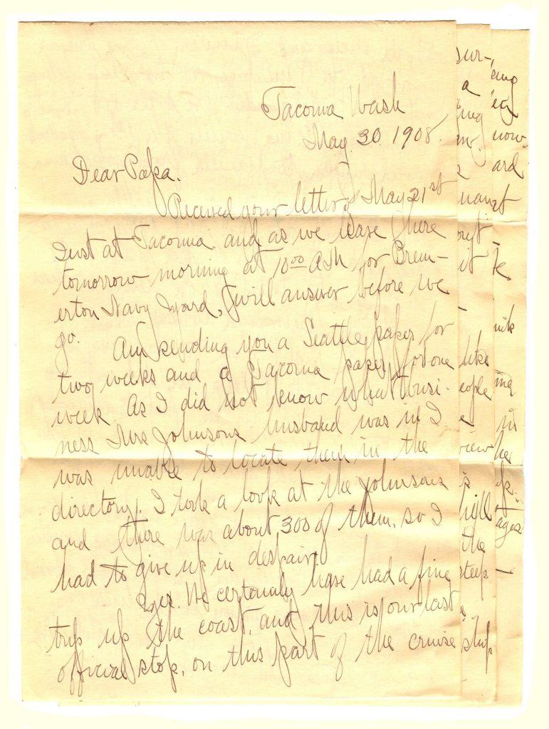 Tacoma Letter Frank Lesher 001