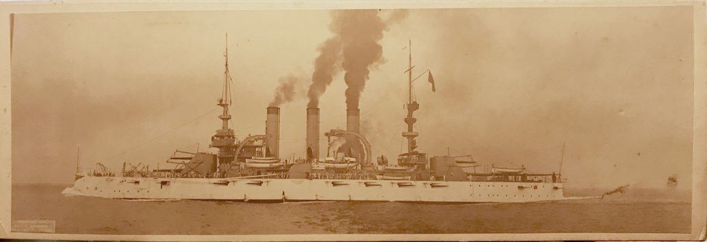 USS Connecticut photographed by C. A. Waterman